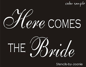 """2 pc Wedding Stencil 5.5/"""" tall His Hers Bride Groom Reception Party French Signs"""