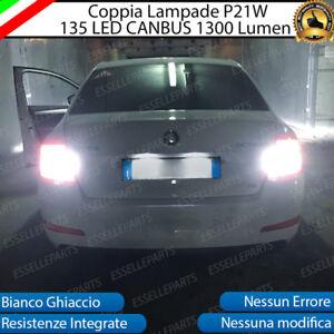 COPPIA-LAMPADE-RETROMARCIA-P21W-LED-CANBUS-SKODA-OCTAVIA-MK3-6000K-NO-ERRORE