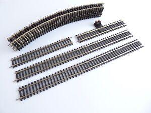 Jouef / Hornby 12 Rails Courbes Et Droits R600 R601 R605 R8206