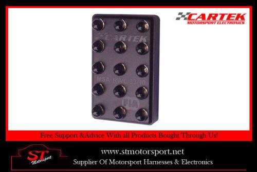 CARTEK Motorsport Rain Light FIA 3-Mode with switch Horizontal//Vertical