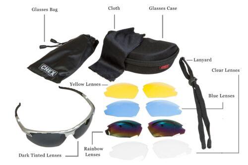 Chex Ace Herren Jungen Sonnenbrillen Sportbrillen 5 Linse Set Inkl Getönt Gelb