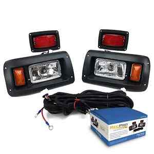 CLUB CAR DS GOLF CART HALOGEN LIGHT KIT w LED TAIL LIGHT 1993 UP