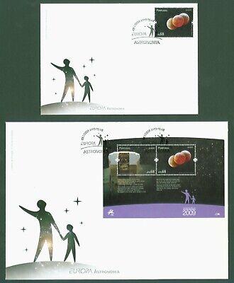 Intellektuell Portugal 2009 - Europa Cept - Astronomie Nr. 3407 + Block 281 Fdc Ersttagsbrief