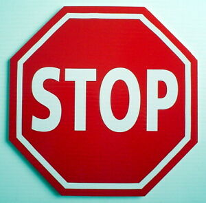 ONE-PLASTIC-CARDBOARD-SIGN-9-034-x-9-034-STOP