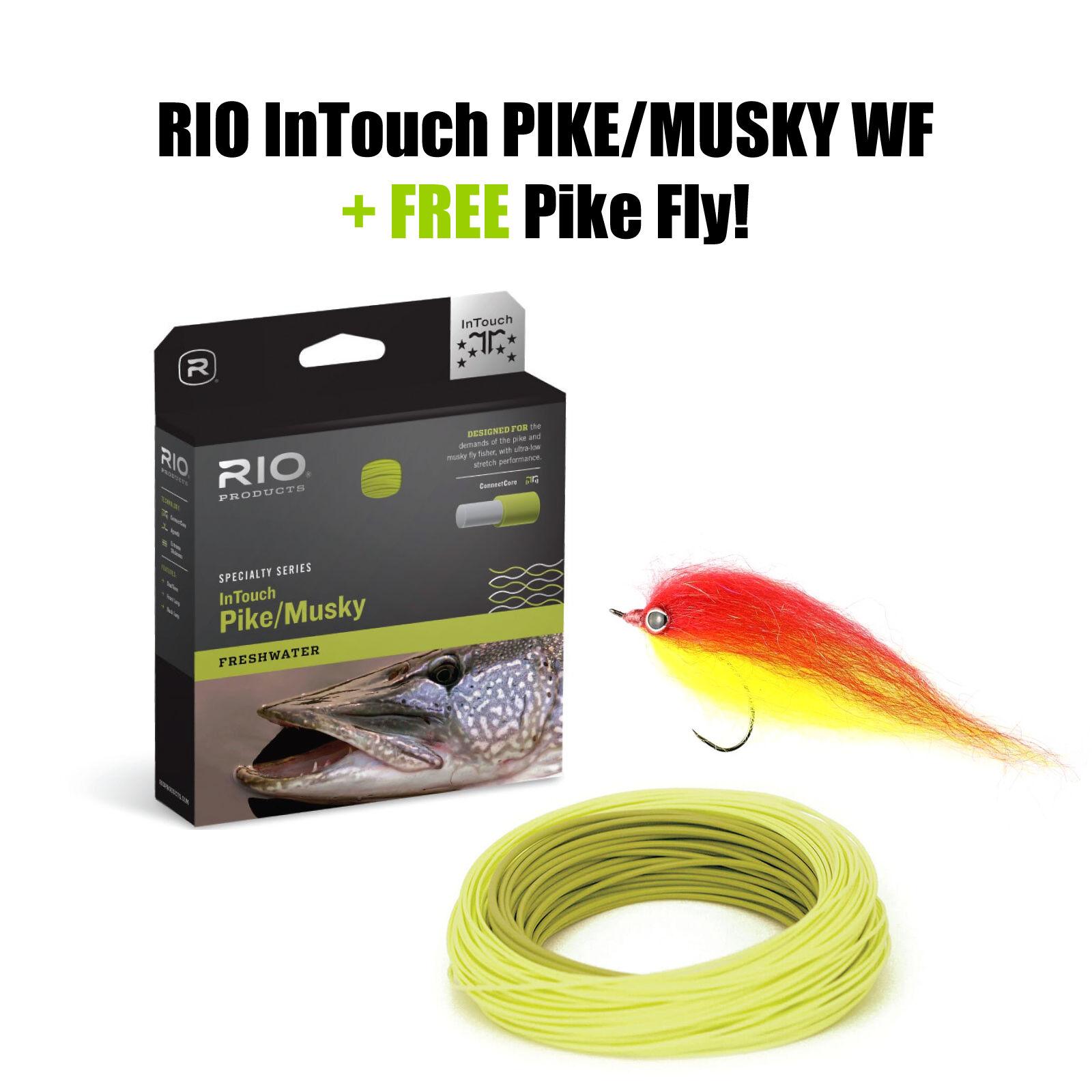 Río Intouch Pike musky Fly Line wf8f-moscas cuerda + Free  Pike fly     barato en alta calidad