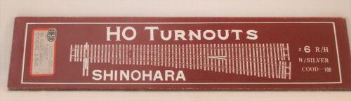 HO SHINOHARA RIGHT HAND #6 CODE 100 NICKEL SILVER TURNOUT NEW
