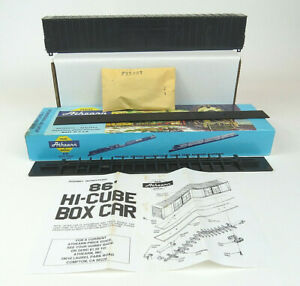 Athearn-HO-Scale-86-FT-Hi-Cube-4-Door-Boxcar-Undecorated-1974
