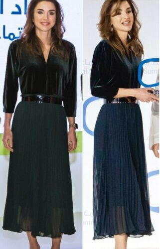 """ZARA 19/"""" FLOWING ACCORDION PLEATED CULOTTES WIDE LEG CROP PALAZZO TROUSERS PANTS"""