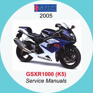 suzuki gsxr1000 2005 2006 service manual k5 k6 a1 ebay rh ebay co uk 2006 gsxr 1000 service manual pdf 2006 gsxr 1000 manual download