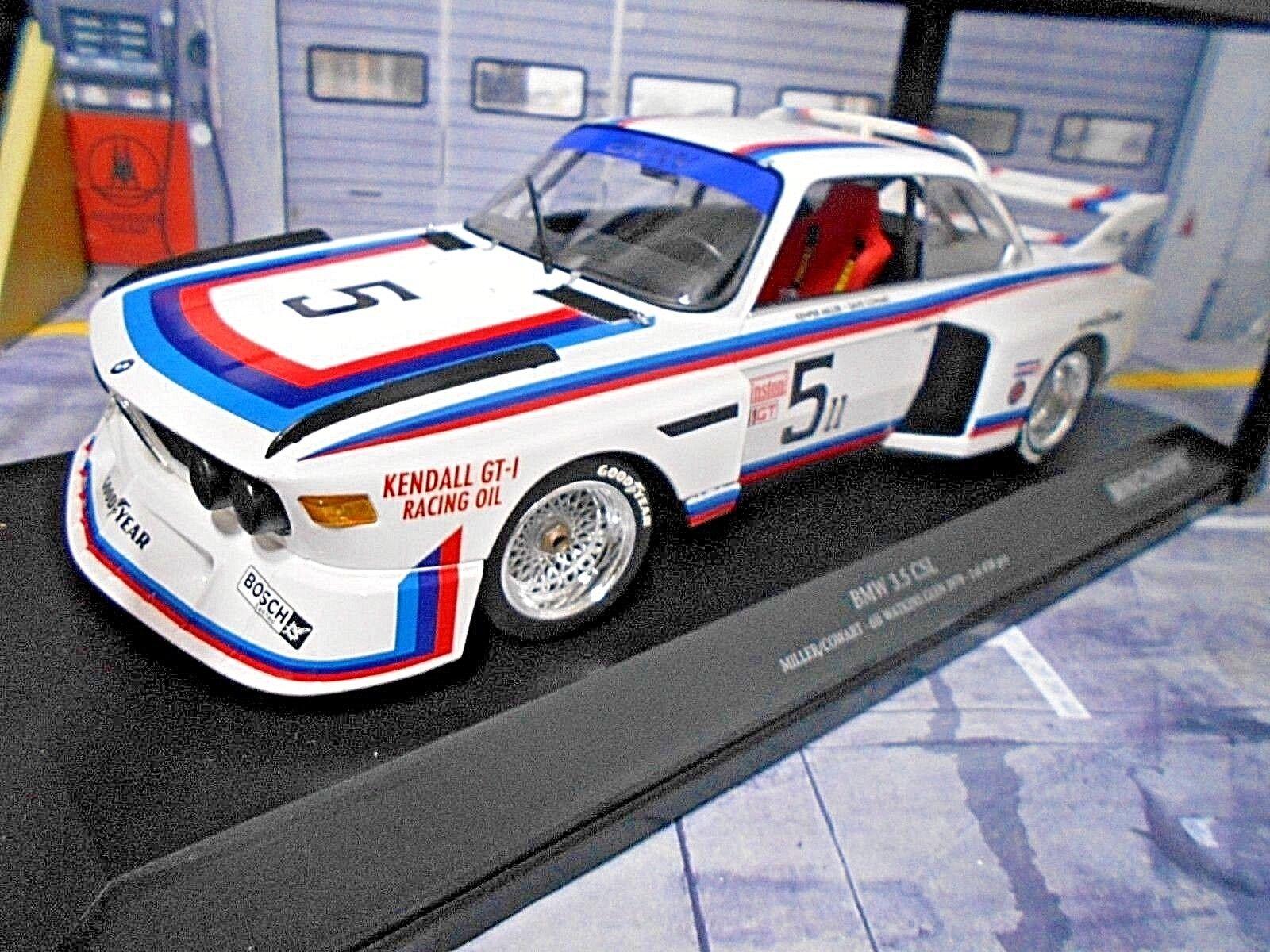 BMW 3.5 CSL 6h Watkins Glen  5 Miller Cowart Kendtutti 1979 RAR Minichamps 1 18