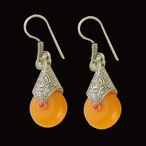 65f7c1551 Image is loading Indian-Bollywood-Earrings-Oxidised-Silver-Plated-Drop -Dangle-