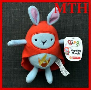 Fisher-Price-Hoppity-Voosh-Soft-Toy-Plush-Bing-Bunny-CBeebies-New-With-Tag-NEW