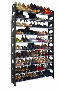 New-Shoe-Rack-for-50-Pair-Wall-Bench-Shelf-Closet-Organizer-Storage-Box-Stand