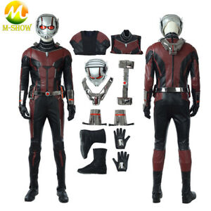 Ant-Man and the Wasp Costume Scott Lang Cosplay Halloween Leather Men Jumpsuit