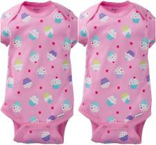 a8d1e9af5 Gerber Onesie Brand Baby Girls 2 Pack Onesies Size 3-6 Months Cupcake Design