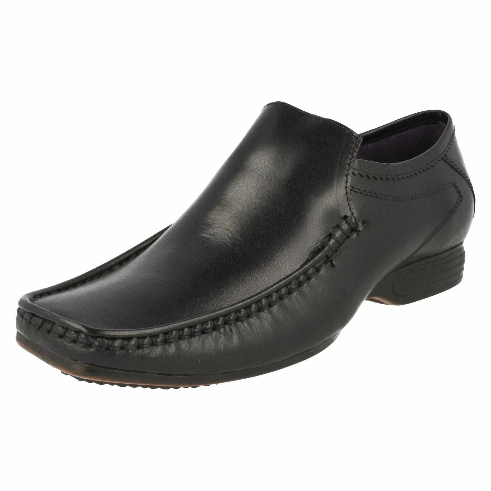 PSL HopeB Men's Black Leather Smart Slip On shoes (R26B)
