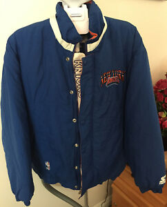RARE-STARTER-New-York-Knicks-Nylon-Jacket-Sz-S-Embroidered