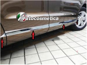 Set 8 PROTEZIONI PORTE FASCE PORTIERE IN ACCIAIO CROMO Audi Q3 2007-2018