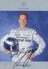 Thomas Jäger Autogrammkarte 2001, aufgedruckte Unterschrift, printed sign