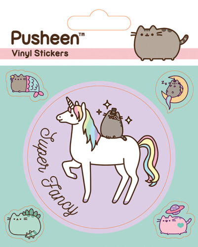Pusheen VINYL STICKERS 5 PACK BY PYRAMID PS7377 Mythical