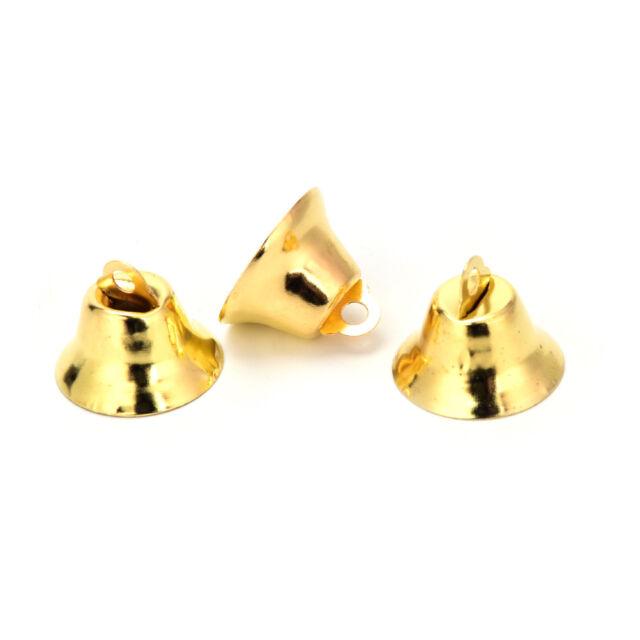 10 pcs Xmas Gold And Silver Beads Christmas Jingle Bells DIY Jewelry 2*2C ci