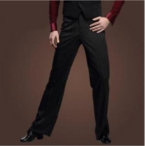 Men's Ballroom Latin Dance Loose Stage Costume Modern Practice Pants trousers yh