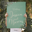 Personalised-Green-Foliage-Wedding-Welcome-Sign-Board-A1-A2-A3 thumbnail 6