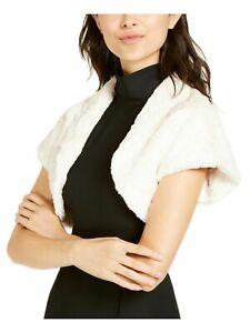Vince Camuto Women's Jacket White Ivory Size Medium M Faux Fur Shrug $99 #338