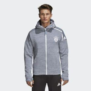 Details about Adidas Men's Bayern Munich Core 18 ZNE Rain Zip Up Hoodie (Grey) CY6101*