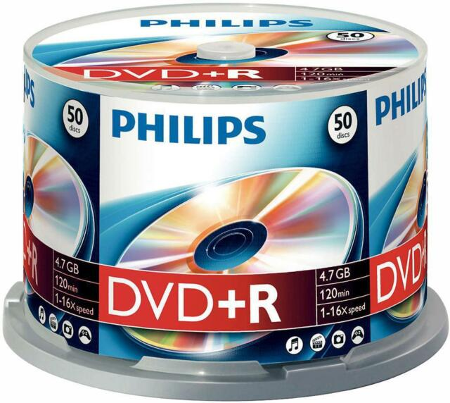 Philips - DR4S6B50F/00 - Dvd+r 4.7gb (16x) Spindle, 50 Pack