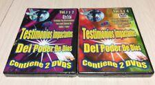 Testimonios Impactantes Del Poder De Dios, (2 DVD Cases @2 = 4DVD's) Brand New