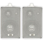 Acoustic Audio 251W Indoor Outdoor 3 Way Speakers 400 Watt White Pair