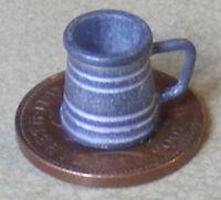 1:12 Pewter Tudor Pint Tankard Dolls House Miniature Bar Beer Ale Accessory 118