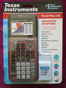 Details about Rose Gold Texas Instrument Ti-84 Plus CE Graphic Calculator  Silver Edition Cmpbl