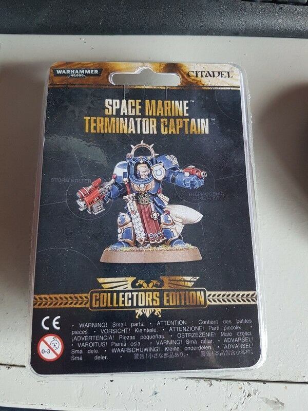 Warhammer 40k  Space Marine Terminator Captain Collectors Edition Rare