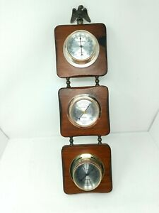 Vintage-Springfield-Weather-Station-w-Barometer-Thermometer-Hygrometer-USA