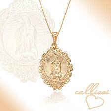 Heilige Maria Magdalena Kette, 750er Gold 18K echt vergoldet Callissi Schmuck