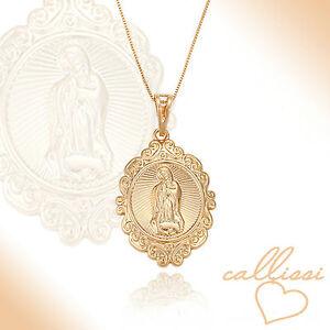 Maria-Magdalena-Kette-750er-Gold-18K-echt-vergoldet-Callissi-Damen-Schmuck