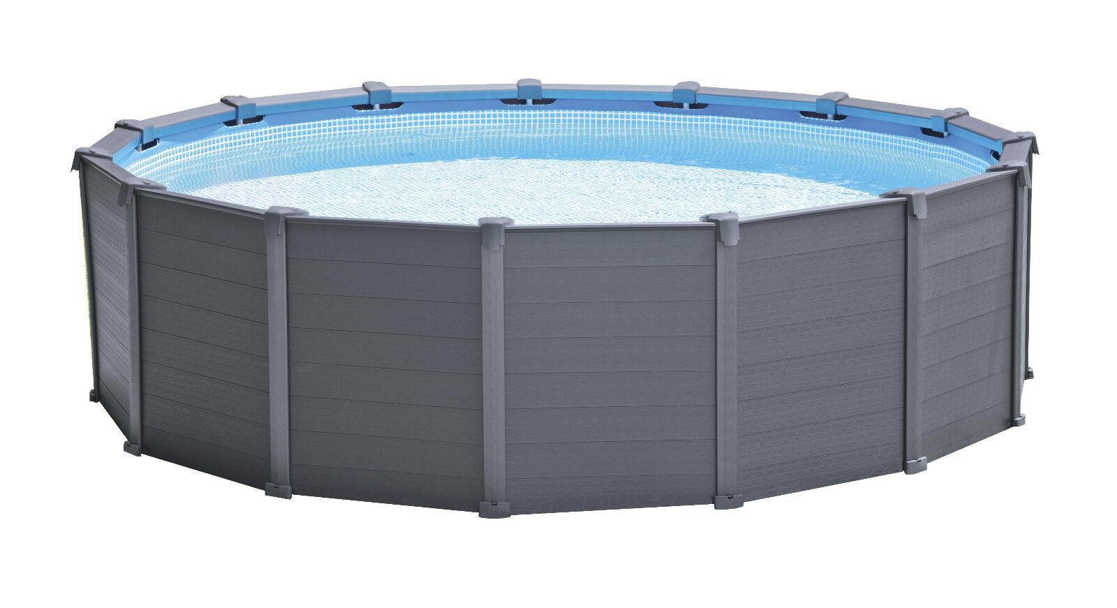 Intex Frame Pool Set Graphit Ø 478 x 124 cm  26382GN