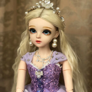 60cm BJD Doll 1//3 Ball Jointed Girl Face Eyes Makeup Dress Wigs Shoes Gifts Toy
