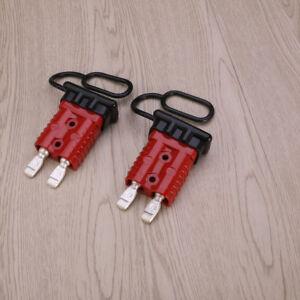 175A-Rot-stecker-batterie-stecker-4ein-Steckverbindung-Kontakt-2-Schutzkappe