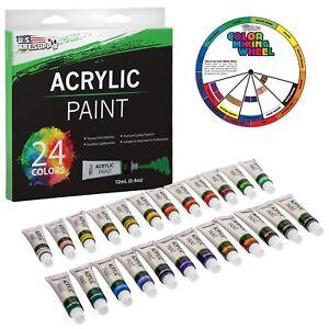 ec2aa34c886e US Art Supply Reg 12ml Acrylic Tube Artist Paint Set 24 Tubes