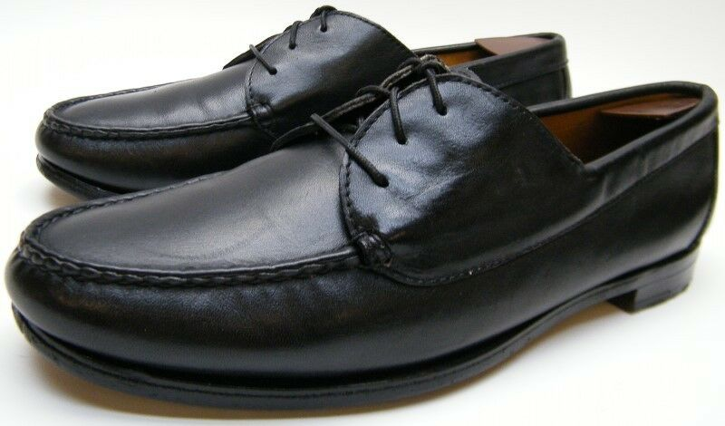 basta comprarlo MENS VINTAGE ORVIS MOC TOE LACE UP UP UP BLK LEATHER MOCCASIN scarpe SZ 11.51 2 B USA  scelte con prezzo basso