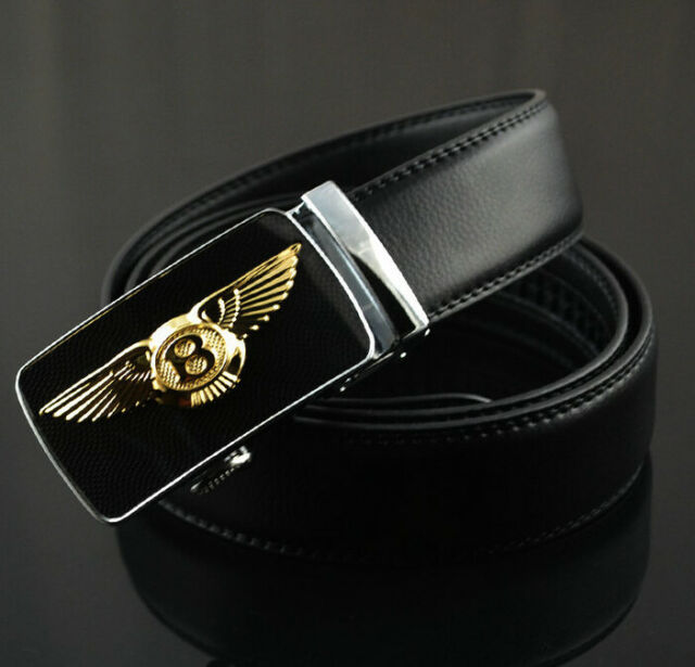 Mens Belt Luxury Leather belts For Men Bentley Logo Automatic Buckle belt New