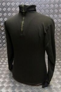 Genuine Dutch Army Norwegian/Norgie Thermal Top/Jumper/Shirt Overdyed - Black