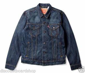 Levis The Trucker Charlie Denim Jean Four Pocket Button Down Coat