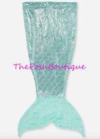 Justice Girl Tween Teen Mermaid Tail Blanket Sleeping Bag Seafoam Green Aqua