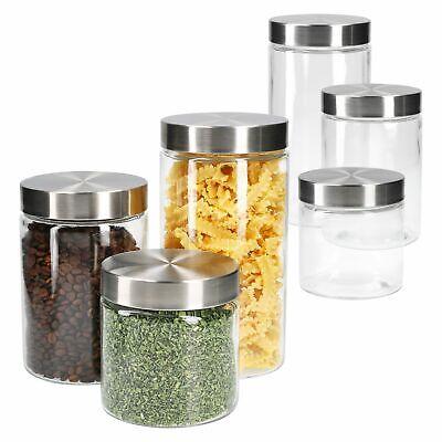 2x Vorratsglas 1,25L mit Edelstahldeckel Aufbewahrungsglas Behälter Cornflakes