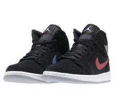 fb603064df29 Air Jordan 1 Mid Mens 554724-065 Black Red Royal White Basketball Shoes  Size 9.5