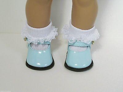 "Dark DK Debs PINK SideBow EZ2 Close Doll Shoes For 18/"" American Girl"